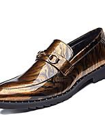 Недорогие -Муж. Комфортная обувь Полиуретан Весна На каждый день Мокасины и Свитер Нескользкий Контрастных цветов Черный / Красный / Синий