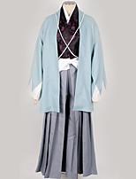 Недорогие -Вдохновлен Косплей Косплей Аниме Косплэй костюмы Косплей Костюмы / Кимоно Однотонный кимоно Пальто / Костюм Назначение Муж. / Жен.
