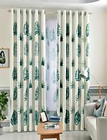 Недорогие -Шторы портьеры Спальня Цветочный принт 100% Полиэфир Активный краситель