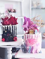 Недорогие -Украшения для торта Классика / Праздник / День рождения Художественные / Ретро / Уникальный дизайн ABS смолы Для вечеринок / День рождения с Планка 1 pcs Пенополиуретан