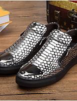 Недорогие -Муж. Комфортная обувь Кожа Весна & осень Мокасины и Свитер Белый / Черный / Желтый