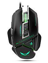 Недорогие -ZERODATE Проводной USB Gaming Mouse / Управление мышью X400GY 11 pcs ключи LED подсветка 4 Регулируемые уровни DPI 3200 dpi