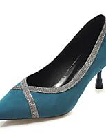 Недорогие -Жен. Замша Весна На каждый день Обувь на каблуках На шпильке Черный / Бежевый / Синий
