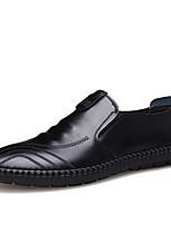 Недорогие -Муж. Кожаные ботинки Кожа Весна & осень Деловые / На каждый день Мокасины и Свитер Дышащий Черный / Синий