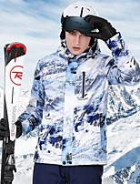 Недорогие -High Experience Муж. Лыжная куртка Водонепроницаемость Сохраняет тепло Воздухопроницаемость Катание на лыжах Сноубординг Зимние виды спорта Полиэфир Терилен Шелковая ткань Верхняя часть / Зима