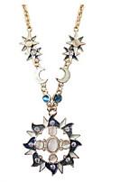 Недорогие -Жен. Классический Ожерелья с подвесками - Солнце европейский, модный Милый Синий 86 cm Ожерелье Бижутерия 1шт Назначение Повседневные, Для улицы