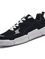 Недорогие -Муж. Комфортная обувь Полиуретан Весна На каждый день Кеды Дышащий Контрастных цветов Черный / Бежевый / Серый