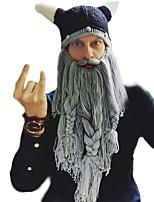 Недорогие -Пираты Викинг Шапки Муж. Жен. Косплей из фильмов Серый / Кофейный / Серый и черный Шапки Хэллоуин Карнавал Маскарад Искусственная шерсть