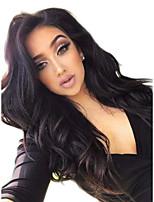 Недорогие -Не подвергавшиеся окрашиванию 6x13 Тип замка Парик Бразильские волосы Волнистый Парик Глубокое разделение 150% 180% Плотность волос с детскими волосами Природные волосы с клипом Glueless