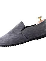 Недорогие -Муж. Комфортная обувь Полотно / Лён Весна & осень На каждый день Мокасины и Свитер Нескользкий Черный / Серый / Синий