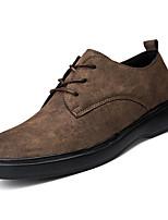 Недорогие -Муж. Комфортная обувь Замша Весна На каждый день Кеды Дышащий Черный / Серый / Коричневый