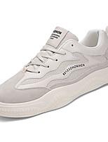 Недорогие -Муж. Комфортная обувь Полиуретан Весна На каждый день Кеды Нескользкий Контрастных цветов Белый / Бежевый / Черно-белый