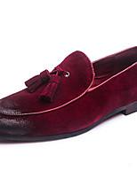 Недорогие -Муж. Кожаные ботинки Замша Весна & осень На каждый день / Английский Мокасины и Свитер Нескользкий Серый / Коричневый / Винный