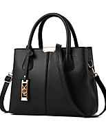 cheap -Women's Polyester / PU Top Handle Bag Solid Color Black / Wine / Blushing Pink