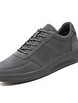 Недорогие -Муж. Комфортная обувь Полиуретан Весна На каждый день Кеды Дышащий Серый / Коричневый / Хаки