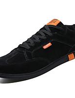 Недорогие -Муж. Комфортная обувь Полиуретан Весна На каждый день Кеды Нескользкий Черный / Бежевый / Серый