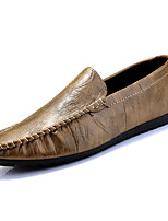 Недорогие -Муж. Комфортная обувь Полиуретан Весна На каждый день Мокасины и Свитер Нескользкий Черный / Синий / Хаки