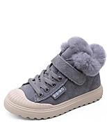 Недорогие -Девочки Обувь Свиная кожа Зима Удобная обувь Ботинки для Для подростков Черный / Серый