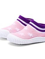 Недорогие -Девочки Обувь Эластичная ткань Весна & осень Удобная обувь Ботинки для Дети (1-4 лет) Пурпурный / Розовый / Черный / Красный