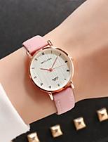 Недорогие -Жен. Нарядные часы Кварцевый Кожа Зеленый / Розовый / Хаки обожаемый Аналоговый На каждый день Мода - Кофейный Зеленый Розовый