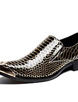 Недорогие -Муж. Официальная обувь Наппа Leather Весна & осень На каждый день / Английский Мокасины и Свитер Нескользкий Золотой / Черный