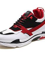 Недорогие -Муж. Комфортная обувь Полиуретан Наступила зима На каждый день Кеды Контрастных цветов Белый / Черно-белый / Черный / Красный