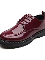 Недорогие -Муж. Комфортная обувь Полиуретан Весна Классика Туфли на шнуровке Доказательство износа Черный / Винный