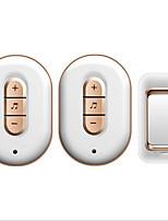 Недорогие -беспроводной один-два дверного звонка музыка дин-дон невизуальный простой белый дверной звонок накладной излучатель с автономным питанием