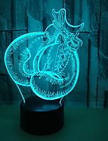Недорогие -1шт 3D ночной свет Тёплый белый Cool 5 V