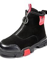 Недорогие -Девочки Обувь Кожа Наступила зима Армейские ботинки Ботинки Молнии для Дети / Для подростков Черный / Коричневый
