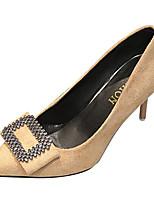 Недорогие -Жен. Полиуретан Весна На каждый день Обувь на каблуках На шпильке Бант Черный / Красный / Миндальный