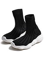 Недорогие -Девочки Обувь Полотно Весна & осень Удобная обувь Ботинки для Для подростков Белый / Черный / Розовый