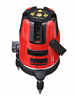 Недорогие -5 линий 6 очков профессиональный водонепроницаемый лазерный уровень красный автоматический уровень 360xc2xb0 вращающийся открытый режим штатив