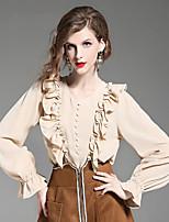 Недорогие -женская шелковая футболка азиатского размера - сплошная цветная шея