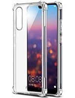 Недорогие -Кейс для Назначение Huawei Huawei Mate 20 Lite / Huawei Mate 20 Pro Прозрачный Кейс на заднюю панель Однотонный Мягкий ТПУ для Huawei Mate 20 lite / Huawei Mate 20 pro / Huawei Mate 20
