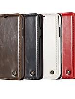 Недорогие -Кейс для Назначение SSamsung Galaxy Note 9 / Note 8 / Note 5 Кошелек / Бумажник для карт / со стендом Чехол Однотонный / Плитка Твердый Кожа PU
