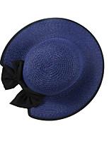 Недорогие -Жен. Винтаж / Классический Соломенная шляпа - Бант Однотонный / С принтом