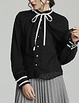 Недорогие -узкая женская блузка азиатского размера - сплошная шея