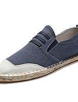 Недорогие -Муж. Комфортная обувь Полиуретан Весна Мокасины и Свитер Черный / Коричневый / Синий