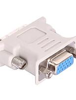Недорогие -DVI 24 + 5 Кабель-переходник, DVI 24 + 5 к VGA Кабель-переходник Male - Female Короткий (менее 20 см)