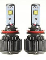 Недорогие -2pcs H9 / H11 / H8 Автомобиль Лампы 60 W 7200 lm Светодиодная лампа Налобный фонарь Назначение Универсальный / Volkswagen / Toyota Все модели Все года