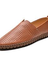 Недорогие -Муж. Комфортная обувь Кожа Весна На каждый день Мокасины и Свитер Дышащий Желтый / Коричневый / Синий