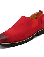 Недорогие -Муж. Комфортная обувь Замша Весна На каждый день Мокасины и Свитер Дышащий Серый / Коричневый / Красный