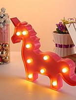 Недорогие -1шт Unicorn LED Night Light Тёплый белый Творчество <5 V