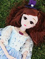 Недорогие -Кукла для девочек Модная кукла Кукла с шаром Девочки 24 дюймовый Силикон - Smart как живой Дети / подростки Детские Универсальные Игрушки Подарок