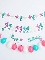 Недорогие -Воздушный шар Плотная бумага 1 комплект День рождения