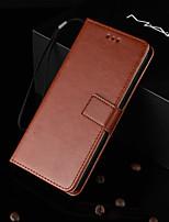 Недорогие -Кейс для Назначение Huawei P20 Pro / Huawei Mate 20 / J6 Бумажник для карт / со стендом / Флип Чехол Однотонный Твердый Кожа PU для Huawei P20 / Huawei P20 Pro / Huawei P20 lite