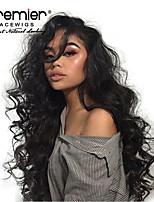 Недорогие -Не подвергавшиеся окрашиванию 360 Лобовой Лента спереди Парик Бразильские волосы Волнистый Парик Глубокое разделение 130% 150% 180% Плотность волос / Жаропрочная / с детскими волосами