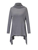 Недорогие -женская футболка - однотонная водолазка
