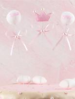 Недорогие -Украшения для торта Классика / Праздник / Новорожденный Художественные / Ретро / Уникальный дизайн Ткань Для вечеринок / День рождения с Планка 3 pcs Пенополиуретан